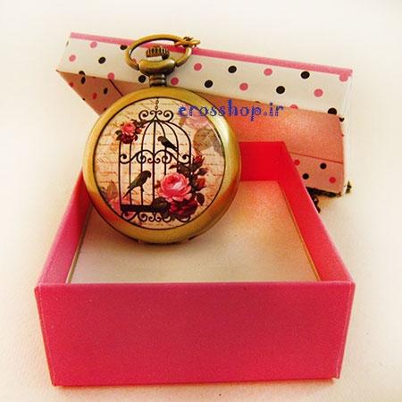 ساعت گردنبند قفس پرنده