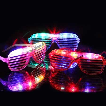 عینک چراغدار LED کرکره ای