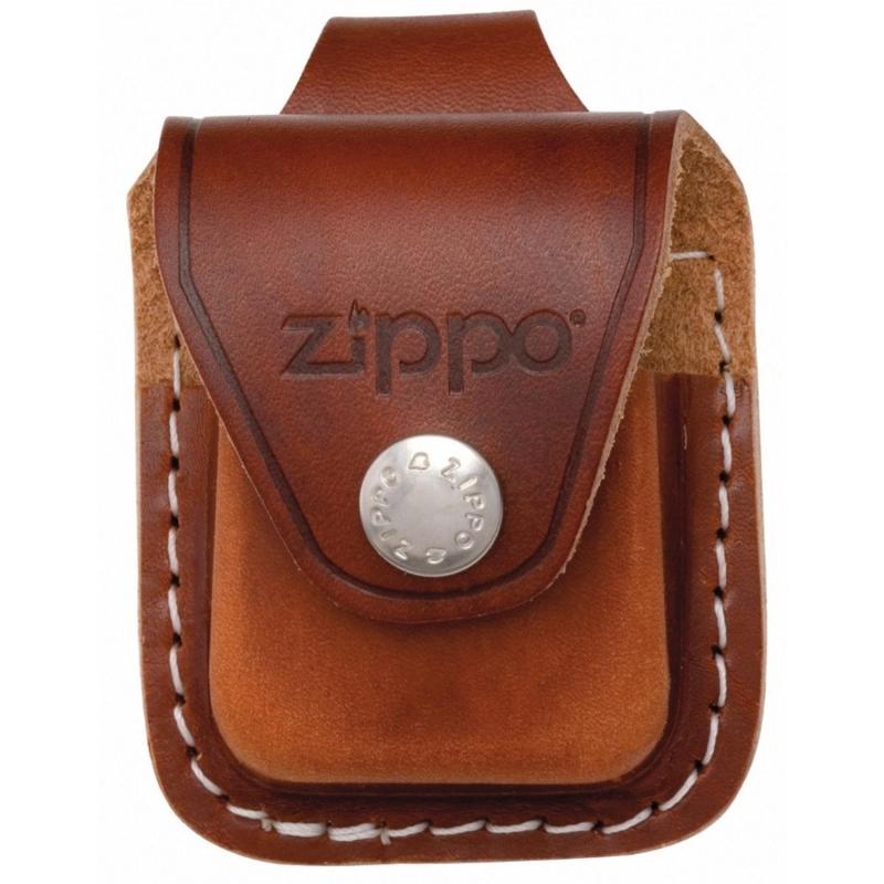 کیف چرم قهوه ای زیپو