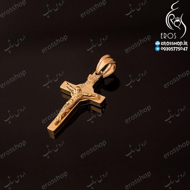 گردن آویز صلیب طلایی ویتالی