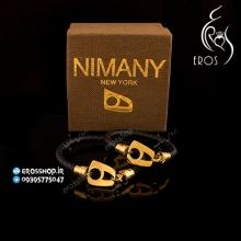دستبند چرم نیمانی استیل NimaNY