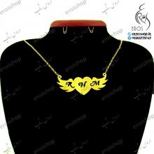 پلاک حروف اول اسم بر روی قلبهای پرنده نقره
