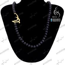 پلاک نقره اسم سارا فارسی و گردنبند سنگ