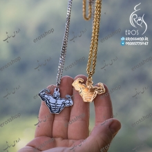Sports pendant necklace male figure