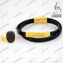 Textured leather sports bracelet and ring sets brand ck