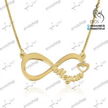 Typography necklace infinite love model nameplate