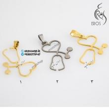 گردنبند با آویز طرح گوشی پزشکی، دکتری یا پرستاری استِتوسکوپ