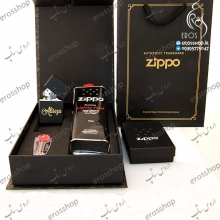 engraving Alireza on black Zippo lighter with Zippo gift package