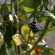 necklace with steel Clapperboard pendant