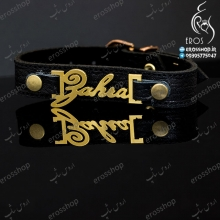 Sports Leather Bracelet Name Zahra English Stainless Steel Plating
