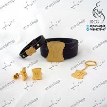 ست مردانه مازراتی دستبند کمربند دکمه سردست جاکلیدی