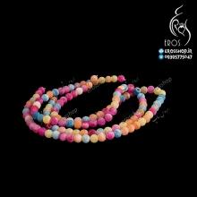 مهره سنگی چند رنگ تک رشته جهت انواع پلاک دستبند و گردنبند