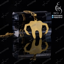 Silver plated gold plated yellow gold pendant plaque design Dental