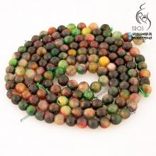 مهره چند رنگ سنگ تراش خورده مناسب دستبند و گردنبند