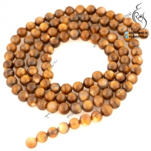 Tiger eye shell bead