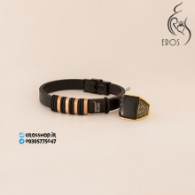 Ring and leather beracelet men set