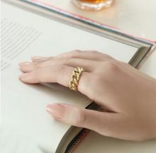 انگشتر استیل زنانه طرح زنجیر کارتیه