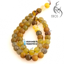 Yellow unix stone bead