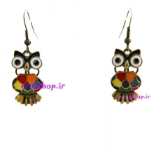 owl earrings Pug