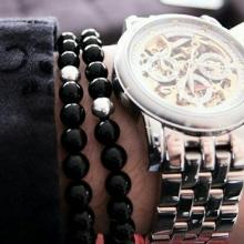 دستبند ست اسپرت اونیکس و حدید نقره ای