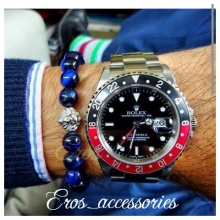 دستبند سنگ آبی و سر شیر