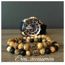 دستبند سنگ ست بودا