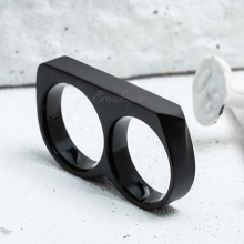 Black Double Rings Vitaly