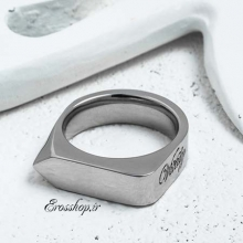 Vitaly Silver Steel ring