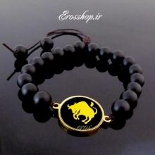 دستبند سنگ ماه تولد صدف سیاه