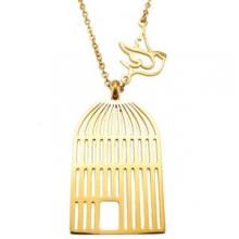 گردنبند پرنده و قفس