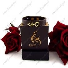 دستبند چرم پلاک اسم احسان