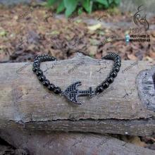 Jeweled bracelet and Swarovski anchor