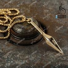 Ninja necklace pendant x gold