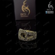 NIMANY jeweled golden ring