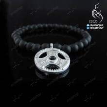 Sports stone bracelet with plate disk Barbell roll Weight