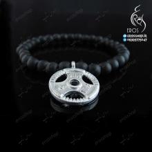 دستبند سنگ اسپرت همراه با پلاک وزنه صفحه دیسکی فرمانی